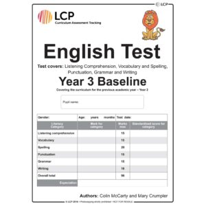 lcp english test year 3 baseline