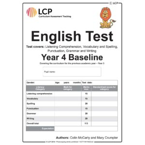 lcp english test year 4 baseline