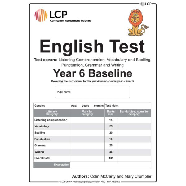 lcp english test year 6 baseline