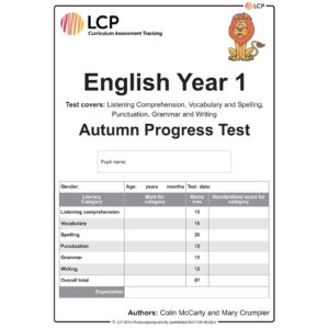 lcp english year 1 autumn progress test
