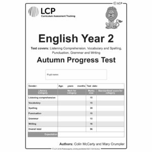 lcp english year 2 autumn progress test