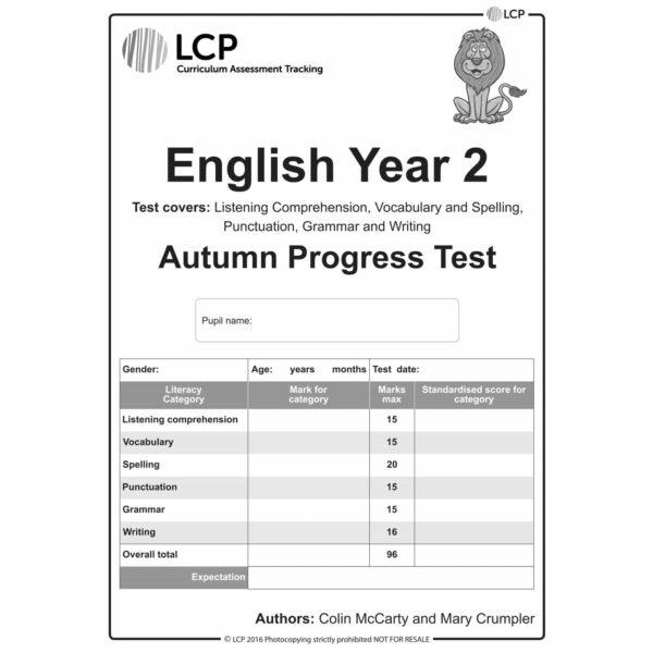 lcp english year 2 autumn progress test