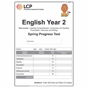 lcp english year 2 spring progress test