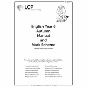 lcp english year 6 autumn manual mark scheme