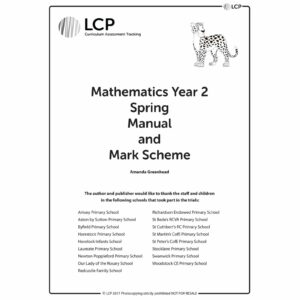 lcp mathematics spring manual mark scheme