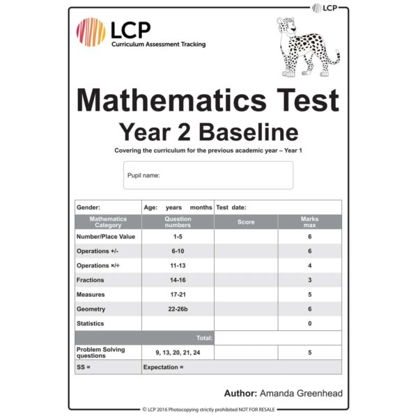 lcp mathematics test year 2 baseline