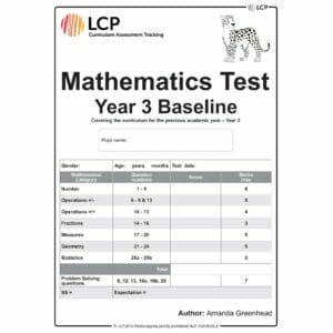 lcp mathematics test year 3 baseline