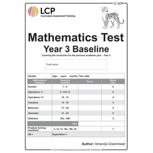 lcp mathematics test year 3 baseline