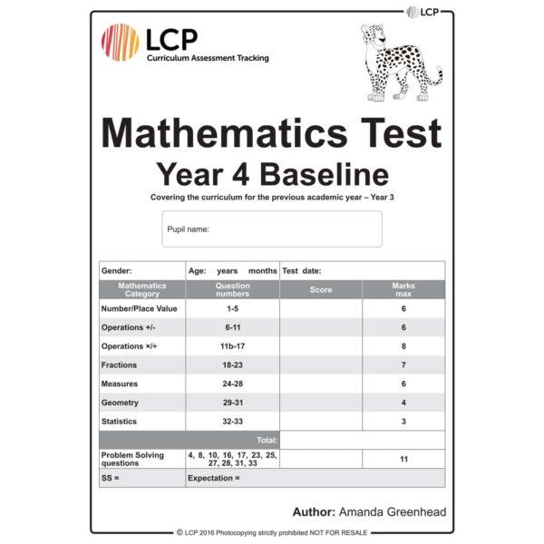 lcp mathematics test year 4 baseline