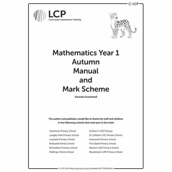 lcp mathematics year 1 autumn manual mark scheme