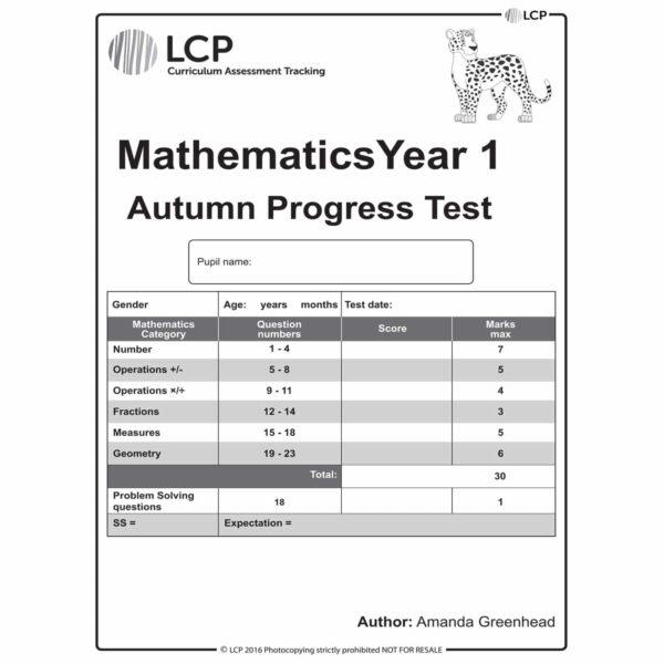 lcp mathematics year 1 autumn progress test