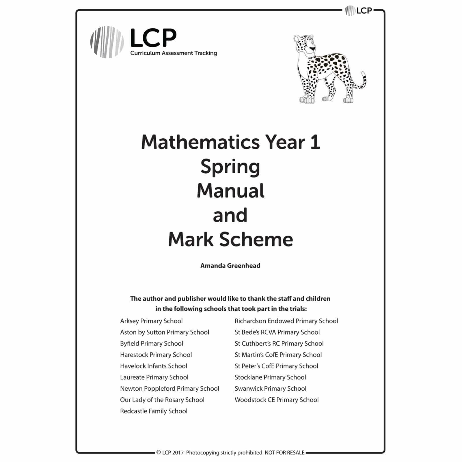 Maths SPRING Year 1 Teacher Manual