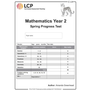 lcp mathematics year 2 spring progress test