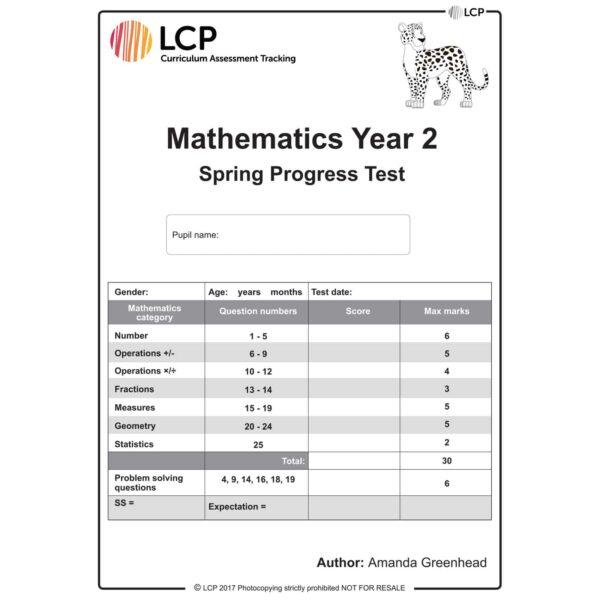 lcp mathematics year 2 spring progress test