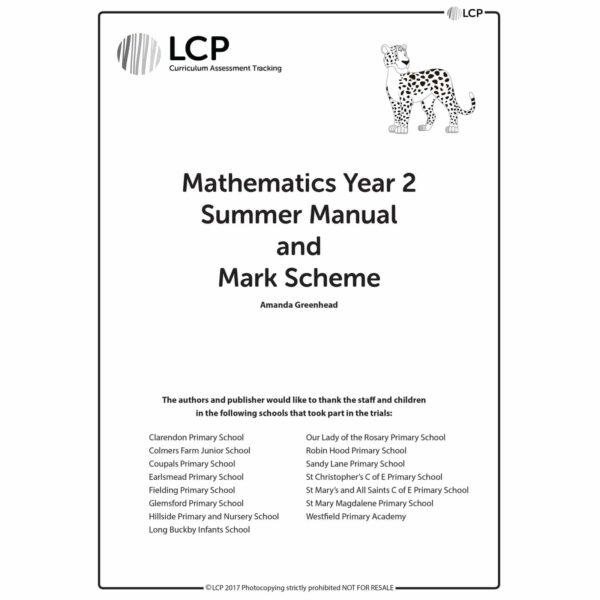 lcp mathematics year 2 summer manual mark scheme