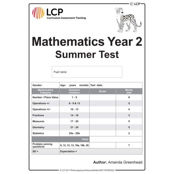 lcp mathematics year 2 summer test