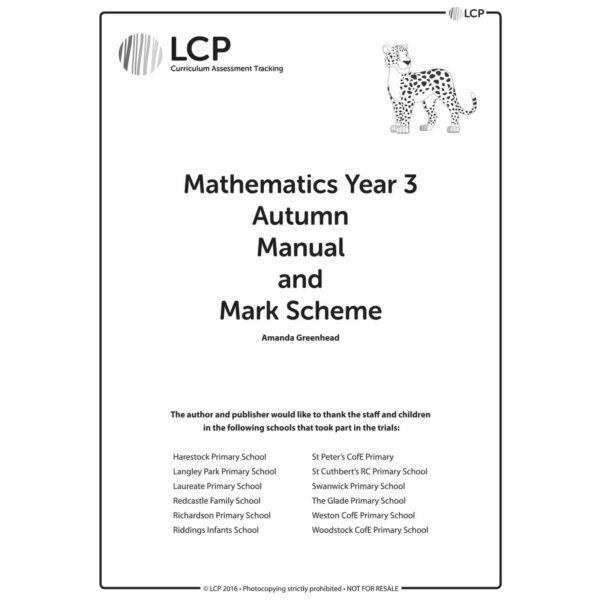 lcp mathematics year 3 autumn manual mark scheme