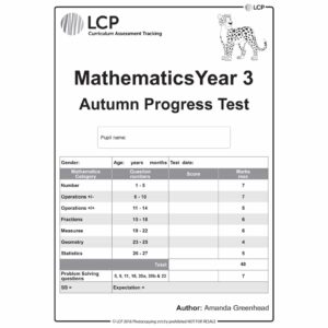 lcp mathematics year 3 autumn progress test