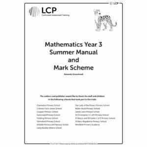 lcp mathematics year 3 summer manual mark scheme
