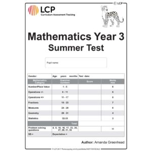 lcp mathematics year 3 summer test