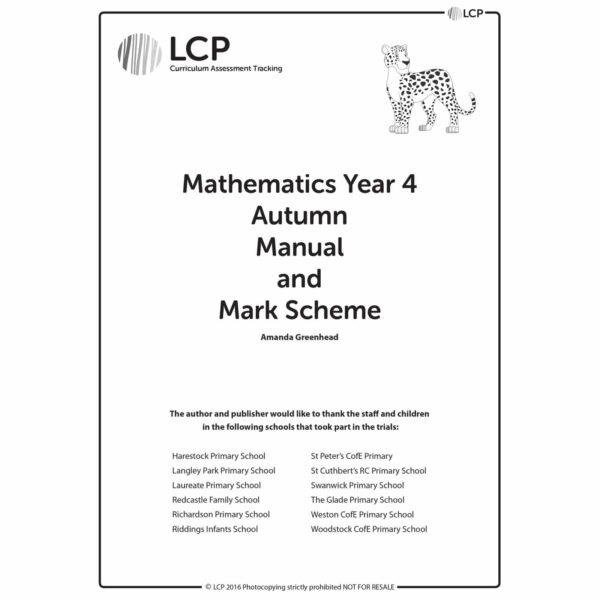 lcp mathematics year 4 autumn manual mark scheme