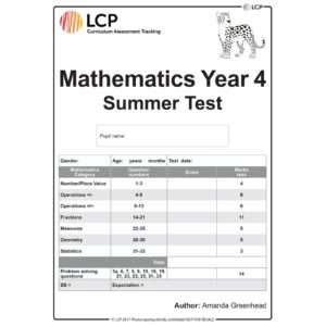 lcp mathematics year 4 summer test