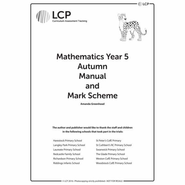 lcp mathematics year 5 autumn manual mark scheme