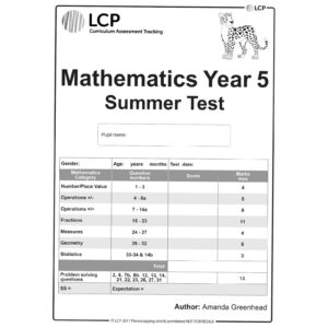 lcp mathematics year 5 summer test