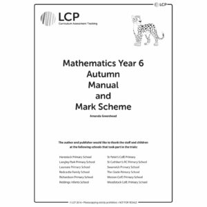 lcp mathematics year 6 autumn manual mark scheme