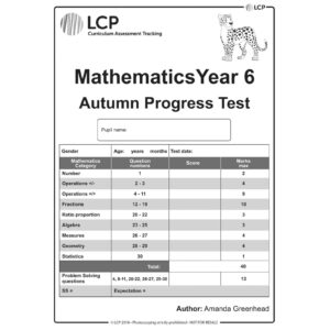 lcp mathematics year 6 autumn progress test