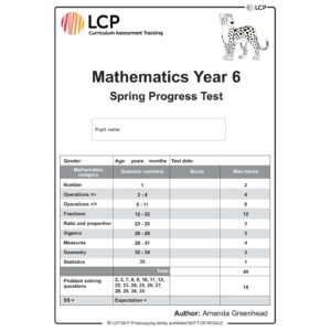 lcp mathematics year 6 spring progress test