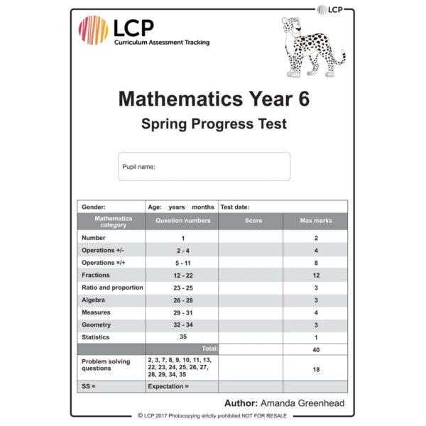 lcp mathematics year 6 spring progress test