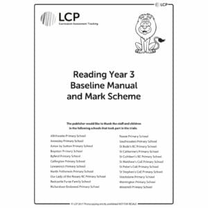 lcp reading year 3 baseline manual mark scheme