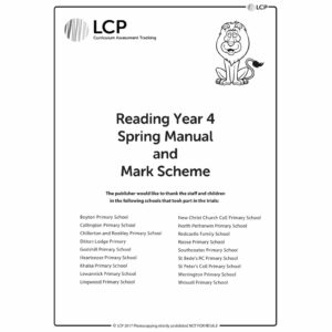 lcp reading year 4 spring manual mark scheme
