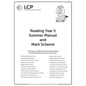 lcp reading year 5 summer manual mark scheme