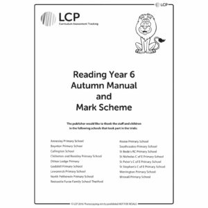 lcp reading year 6 autumn manual mark scheme