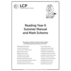 lcp reading year 6 summer manual mark scheme